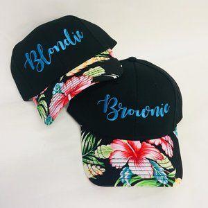Blondie and Brownie Hawaiian Hats